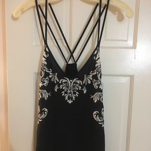 NWOT Express Sequin and Beaded Tank